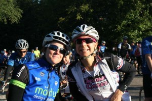 Me and professional woman cyclist Robin Farina at the 2012 Ride for Hope.