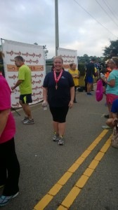 Elizabeth, after yet another impressive 5k run!