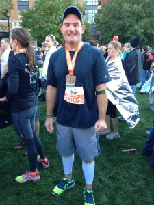 Eric, after his first ever half marathon.