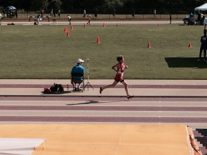 Colin, winning the 3000m and becoming Regional champion.