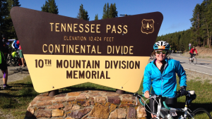 Kelsey at the Continental Divide.
