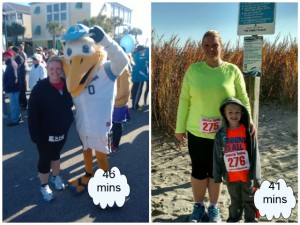 Elizabeth last year and this year.  A race PR by 5 minutes!