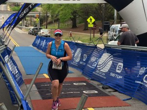Bree crossing the finish!